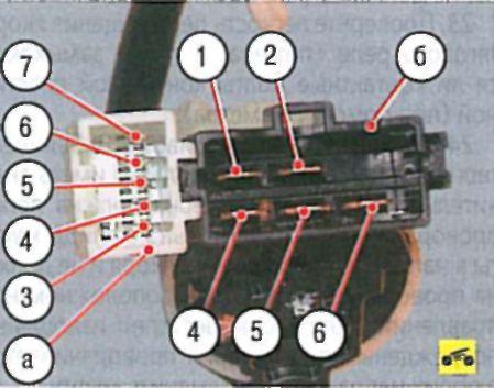 Проверка выключателя (замка) зажигания